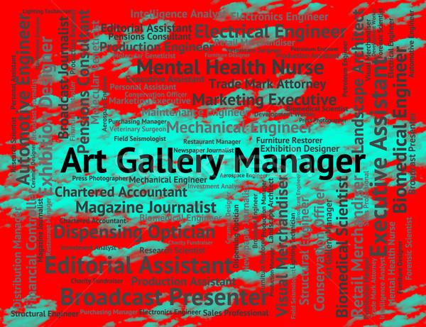 Kunstgalerie manager carriere arts betekenis werk Stockfoto © stuartmiles