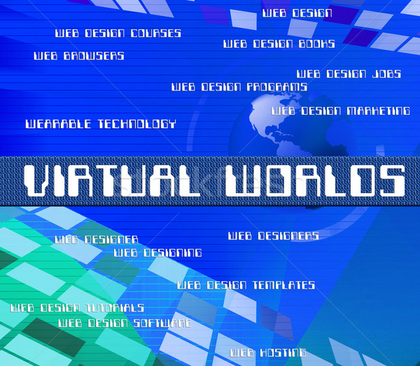 Virtual Outsource Indicates Contracting Earth And Worlds Stock photo © stuartmiles