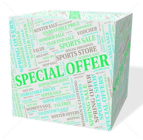 Special Offer Means Unique Clearance And Offers Stock photo © stuartmiles