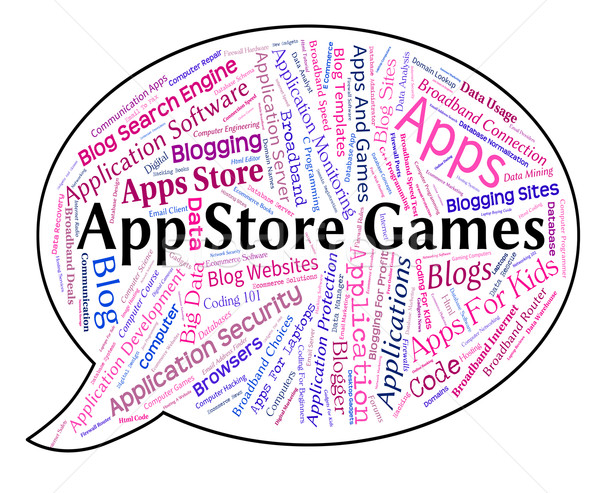App Store Games Shows Retail Sales And Application Stock photo © stuartmiles