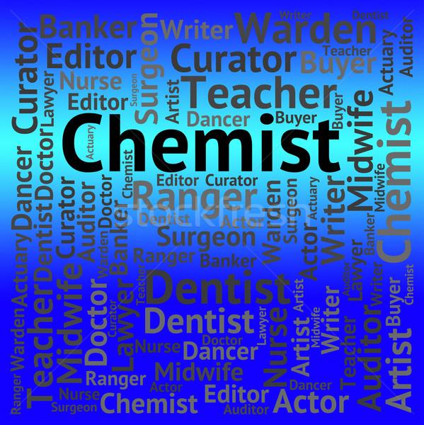 Chemik pracy zatrudnienie rekrutacja kariery znaczenie Zdjęcia stock © stuartmiles