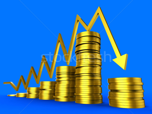 Business Recession Represents Money Commercial And Trade Stock photo © stuartmiles