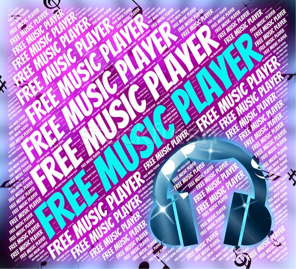 Libre reproductor de música no costo de audio Foto stock © stuartmiles