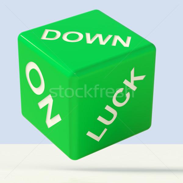 Stok fotoğraf: Aşağı · zarlar · başarısızlık · yeşil