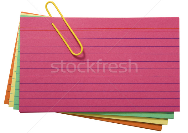 Different Colored Blank Index Cards Stock photo © stuartmiles
