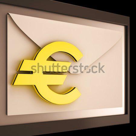 Arany negyven 3D szám évforduló felirat Stock fotó © stuartmiles