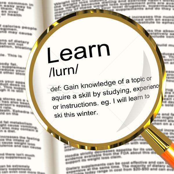 Сток-фото: узнать · определение · знания · исследование