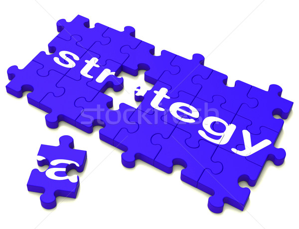 Strategy Sign Showing Planning And Tactics Stock photo © stuartmiles