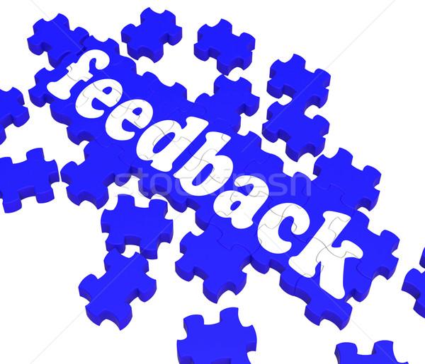 Feedback Puzzle Shows Satisfaction Surveys Stock photo © stuartmiles