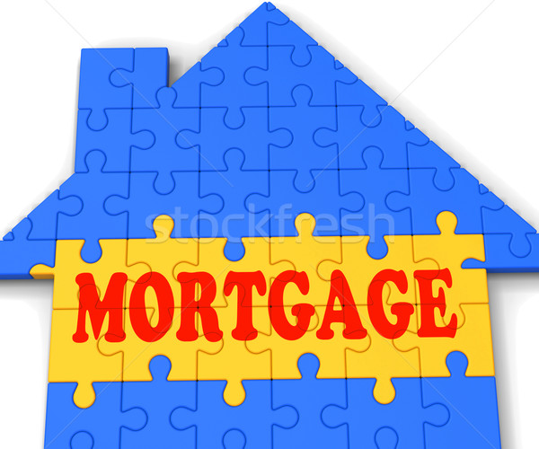 Mortgage House Shows Home Purchase Loan Stock photo © stuartmiles