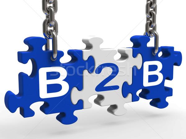 B2b знак бизнеса торговли Сток-фото © stuartmiles