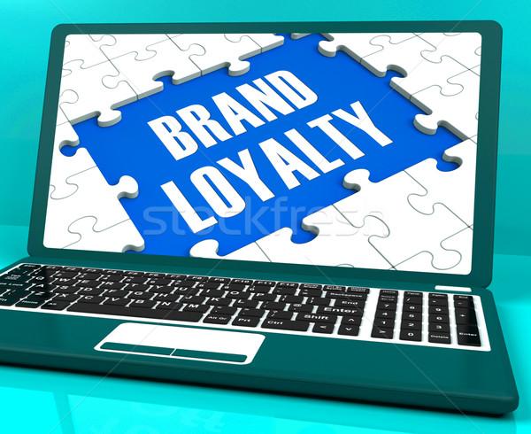 Marka lojalność laptop udany branding Zdjęcia stock © stuartmiles