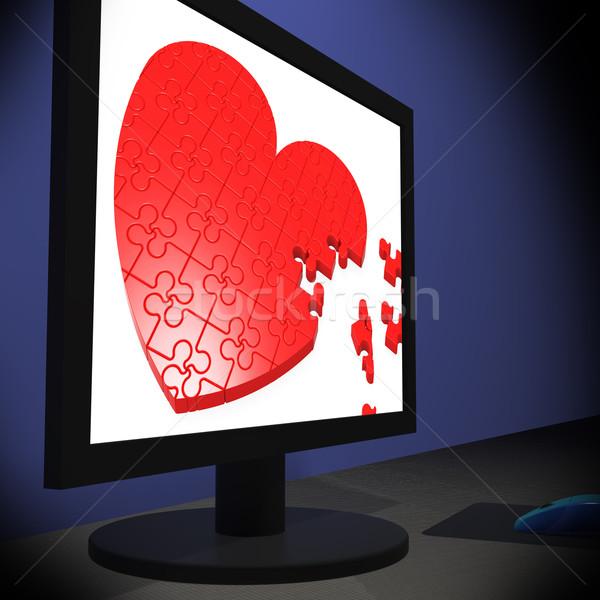 сердце контроля романтические романтика Сток-фото © stuartmiles