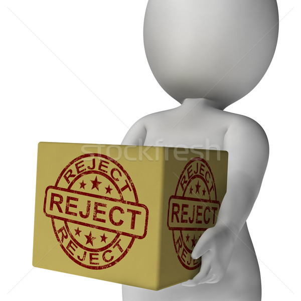 Reject Stamp On Box Shows Rejection Or Denied Product Stock photo © stuartmiles