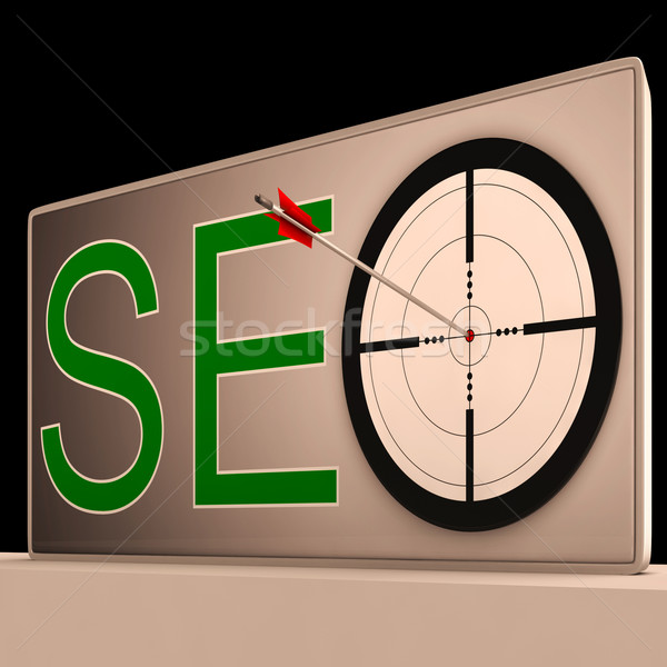 Seo Target Means Search Engine Optimization And Promotion Stock photo © stuartmiles