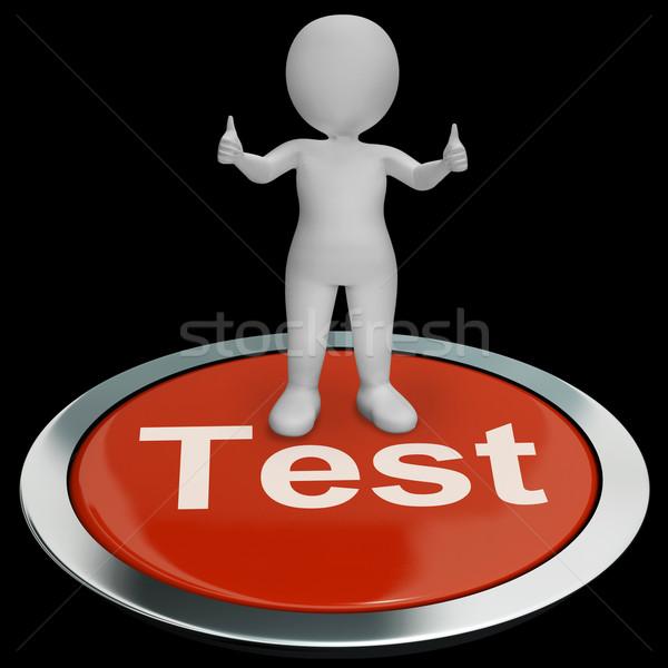 Prueba botón examen línea Foto stock © stuartmiles