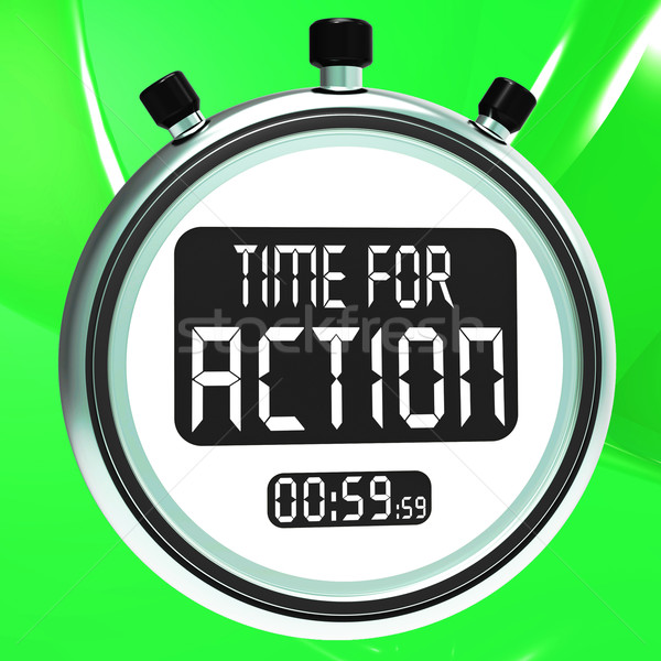 Time for Action Clock Shows To Inspire And Motivate Stock photo © stuartmiles