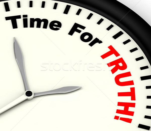 Tempo verità messaggio onesto Foto d'archivio © stuartmiles