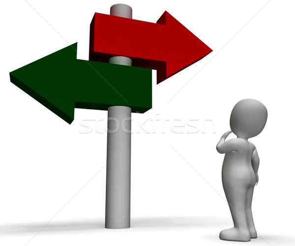 Signpost Shows Confusion Or Dilemma Stock photo © stuartmiles