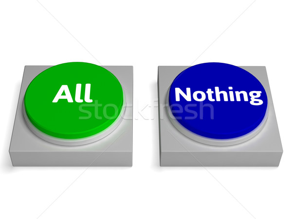 All Nothing Buttons Shows Total Or None Stock photo © stuartmiles