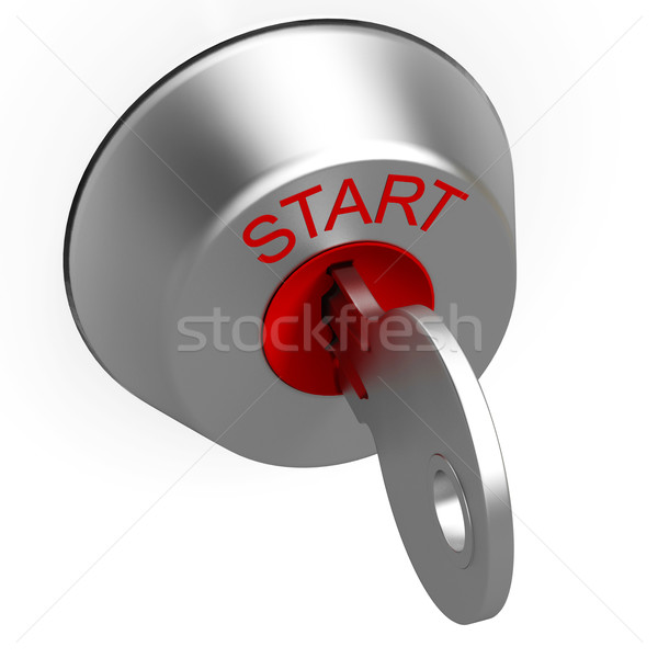 Start Key Showing Car Ignition Stock photo © stuartmiles