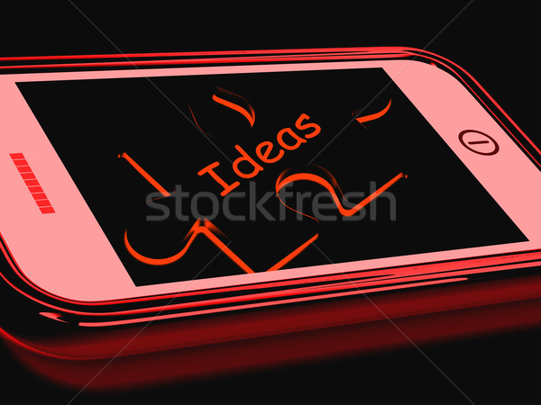 Ideas Smartphone Shows Inspiration Thoughts And Concepts Stock photo © stuartmiles