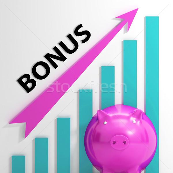Bónusz grafikon mutat haszon prémium Stock fotó © stuartmiles
