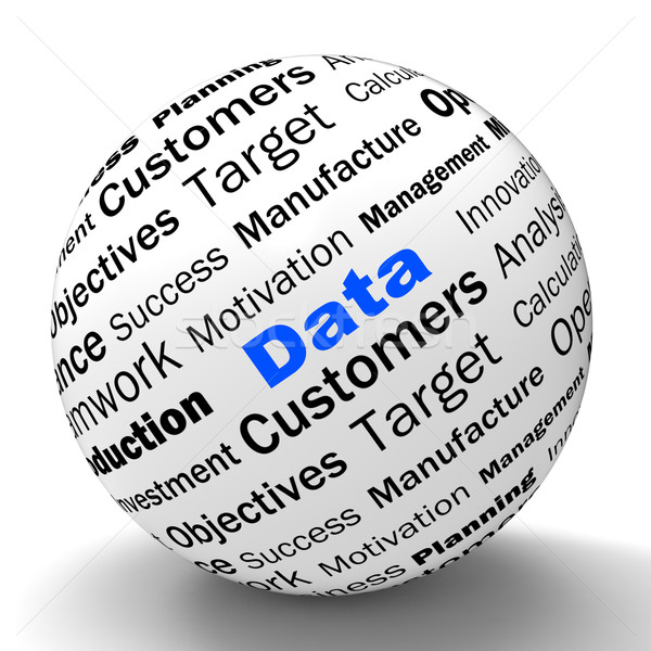 Data Sphere Definition Means Digital Information Or Database Stock photo © stuartmiles