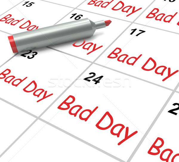 Mal día calendario desagradable horrible tiempo Foto stock © stuartmiles