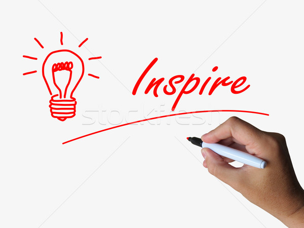 Inspire and Lightbulb Refer to Inspiration Motivation and Influe Stock photo © stuartmiles