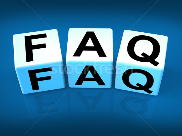 Faq Blocks Indicate Question Answer Information and Advice Stock photo © stuartmiles