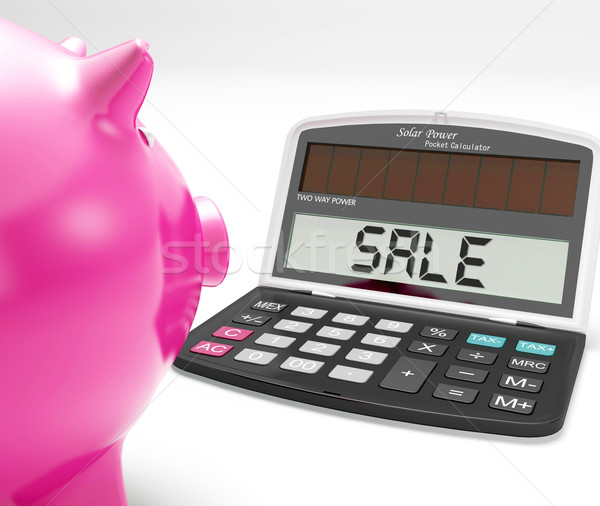 Sale Calculator Shows Price Reduction Or Discounts Stock photo © stuartmiles