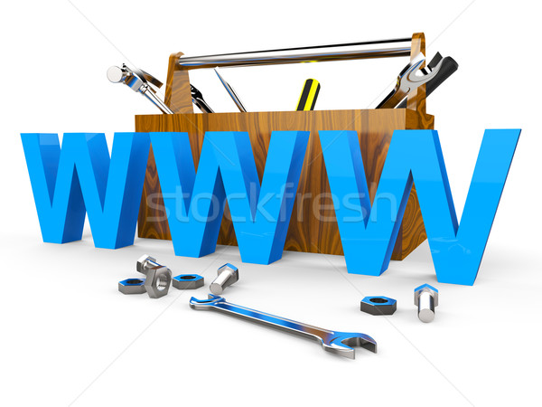 Online Tools Shows World Wide Web And Apparatus Stock photo © stuartmiles
