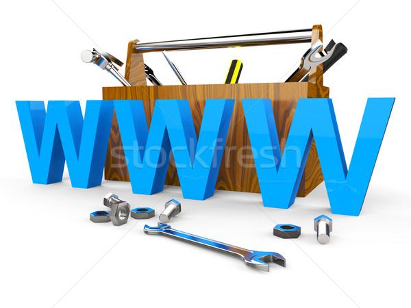 Online szerszámok világháló apparátus weboldal internet Stock fotó © stuartmiles