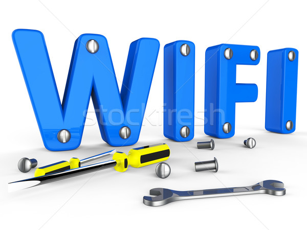 Wifi tools world wide web toegang website computer Stockfoto © stuartmiles
