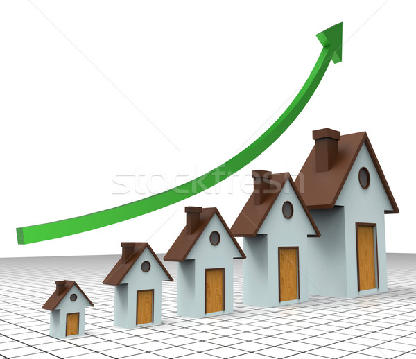 House Prices Increase Means Return On Investment And Amount Stock photo © stuartmiles