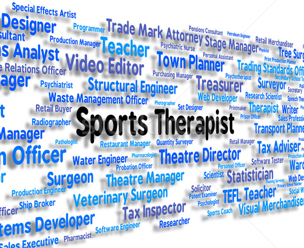 Sports Therapist Represents Physical Exercise And Clinicians Stock photo © stuartmiles