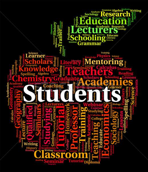 Students Word Indicates Postgraduate Coed And Learn Stock photo © stuartmiles