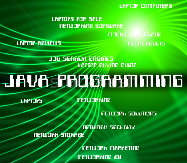 Java Programming Represents Software Design And Development Stock photo © stuartmiles