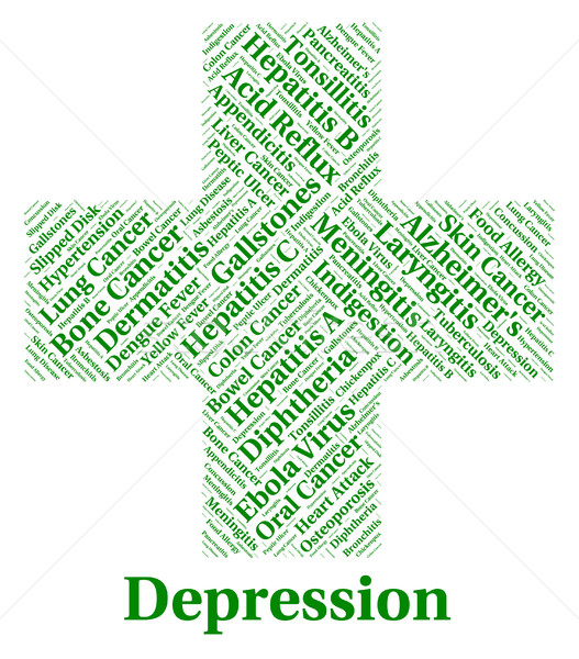 Depression Word Represents Lost Hope And Affliction Stock photo © stuartmiles