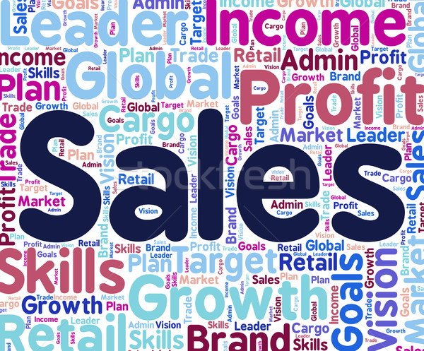 Sales Word Shows Text Retail And Words Stock photo © stuartmiles