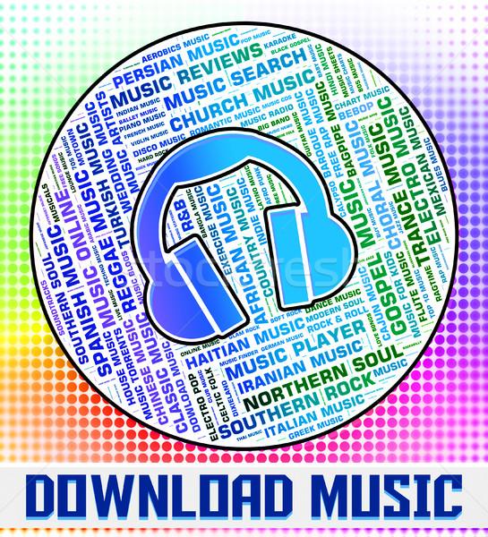 Téléchargement musique sonores acoustique suivre internet Photo stock © stuartmiles