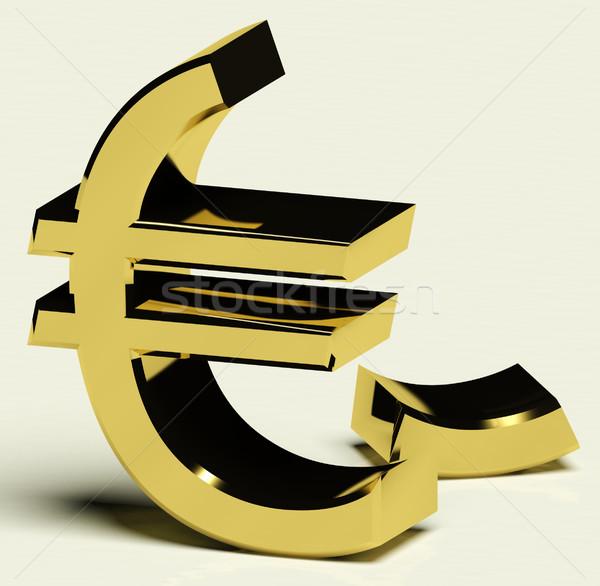 Törött Euro infláció gazdasági kudarc recesszió Stock fotó © stuartmiles