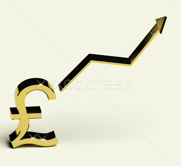 Pound Sign And Up Arrow As Symbol For Earnings Or Profit Stock photo © stuartmiles