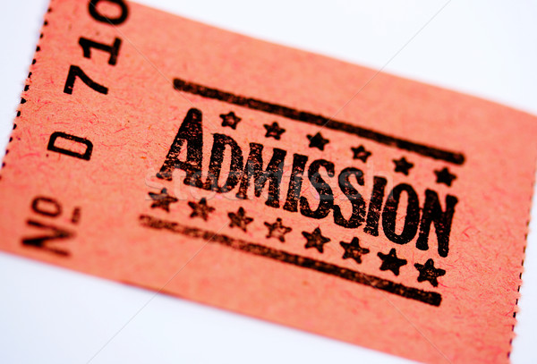 Admission Ticket For A Show Or Theater Stock photo © stuartmiles