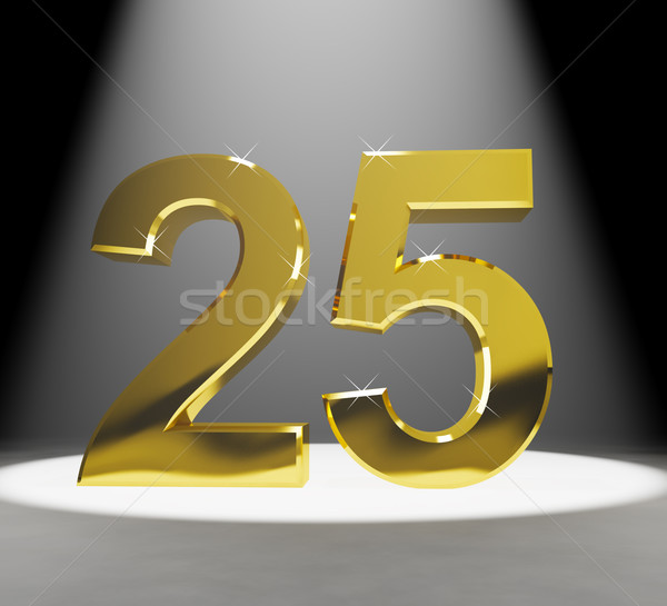 Gold 25th 3d Number Closeup Representing Anniversary Or Birthday Stock photo © stuartmiles