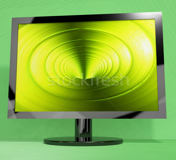 TV Monitor With Vortex Picture Representing High Definition Tele Stock photo © stuartmiles