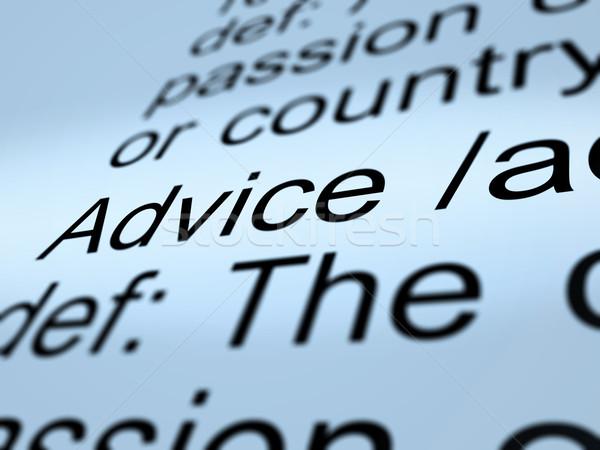 Conselho definição recomendação ajudar Foto stock © stuartmiles