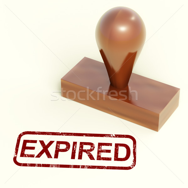 Expired Stamp Showing Product Validity Ended Stock photo © stuartmiles