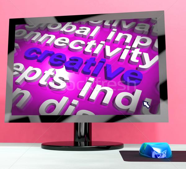 Creatieve woord computer innovatieve ideeën ontwerp Stockfoto © stuartmiles